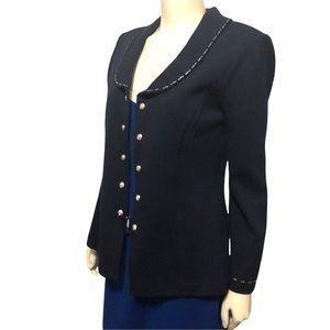 St. John Basics Navy Blue Blazer